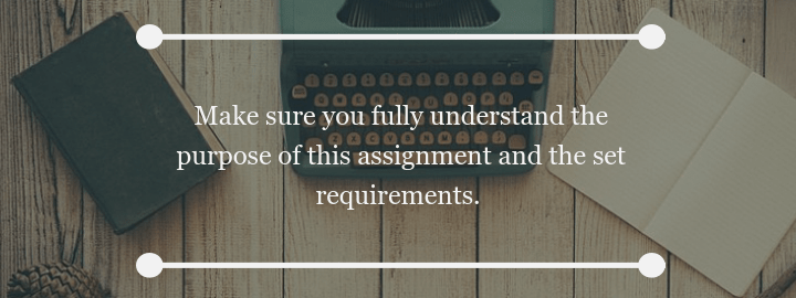 Make sure you fully understand the purpose of this assignment and the set requirments.