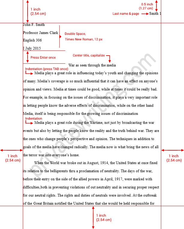 Custom term paper writing using mla format